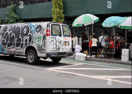 Graffiti-LKW-NewYork Stockbild