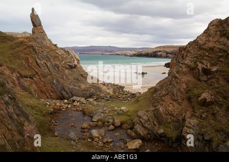 GB Schottland Sango Bay in der Nähe von Durness im Hochland Stockbild