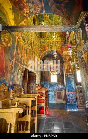 Innenraum des Kloster Varlaam, Meteora, Griechenland Stockbild