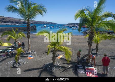 Playa San Juan, Strand an der Westküste der Insel, Teneriffa, Kanarische Inseln, Spanien Stockbild