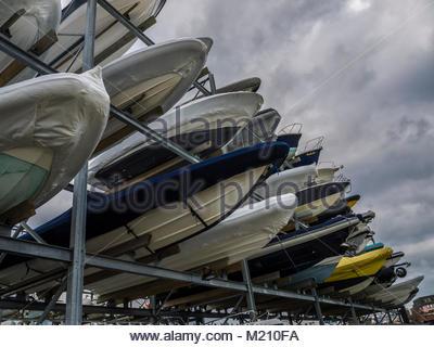 Portsmouth Boote England Großbritannien Stockbild
