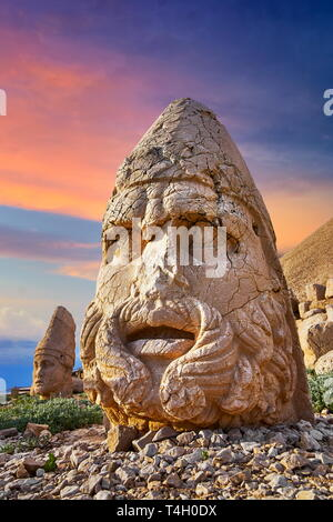 Kopf des Zeus, Berg Nemrut Nationalpark, Türkei Stockbild
