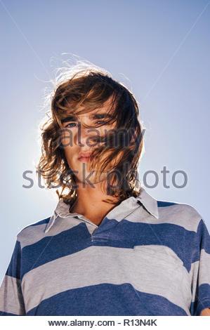 Porträt einer männlichen teen model Stockbild