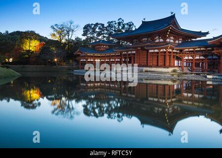 Dem Byodoin-schrein (byodo-in) Tempel, Weltkulturerbe der UNESCO, Kyoto, Japan, Asien Stockbild