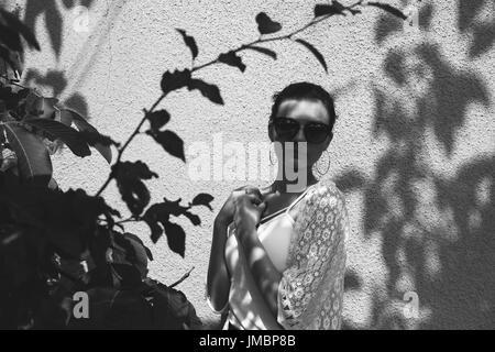 Authentische Frau Porträt Stockbild
