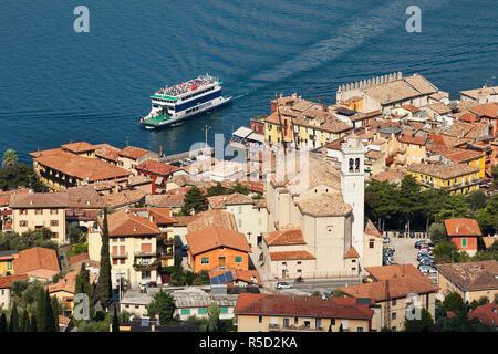 Italien, Venetien, Gardasee, Malcesine Stockbild