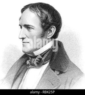 WILLIAM HICKLING PRESCOTT (1796-1859), US-amerikanische Historiker Stockbild