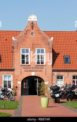 Die Jugendherberge, Leer, Ostfriesland, Niedersachsen, Deutschland, Europa Stockbild