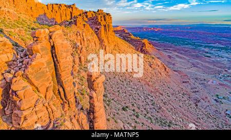 Angel Rock und Moab Valley, Hinter-dem-Rock vorgeschlagen, Wüste, Utah Stockbild