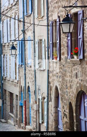 Frankreich, Region Haute-Loire-Abteilung, Auvergne, Le Puy-En-Velay, Gebäude in der Rue Raphael Stockbild