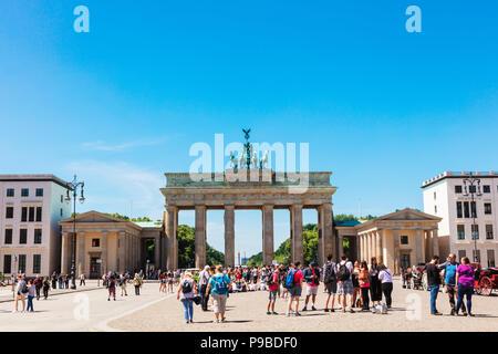 Das Brandenburger Tor ist das Wahrzeichen Berlins. Stockbild