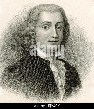 CARLO GOLDONI (1707-1793), italienische Dramatiker Stockbild