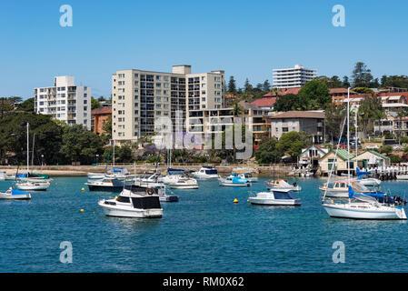 Fahrt mit der Fähre vom Circular Quay nach Manly in Sydney. Stockbild