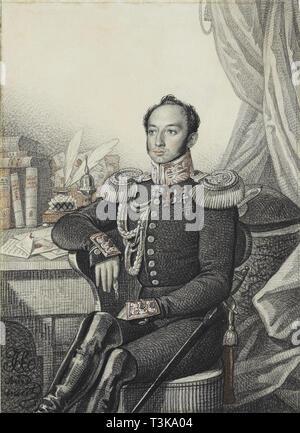 Portrait von Alexander Iwanowitsch Germann, 1822. In der Sammlung von Staat A Puschkin-Museum für bildende Künste, Moskau gefunden. Stockbild