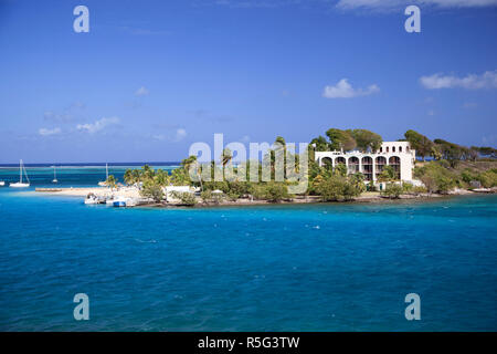 Karibik, US Virgin Islands, Christiansted, St. Croix, Protestant Cay, Cay Resort Hotel auf der Stockbild