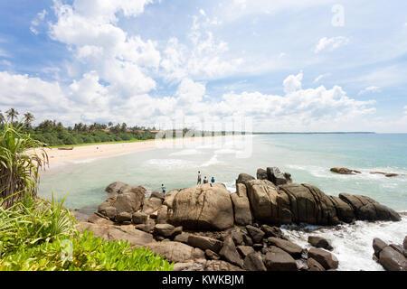 Asien - Sri Lanka - induruwa - Wilde und beeindruckende Strand Landschaft Stockbild