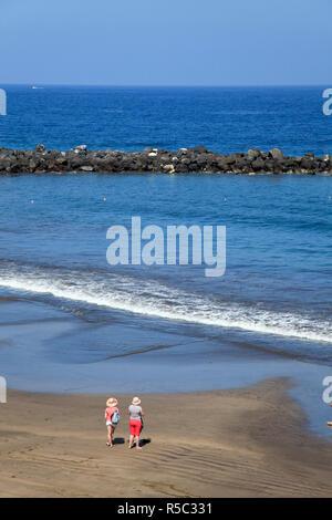 Kanarischen Inseln, Teneriffa, Playa de Las Americas Stockbild