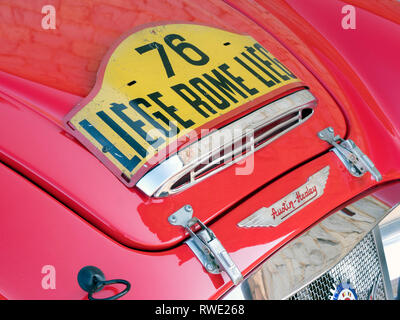 1960 Austin Healey MK1 3000 Werke Rally Car (Pat Moss Ann Weisheit) Stockbild