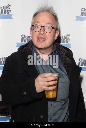 Chortle Comedy Awards am Fest Camden, Camden Town, London Mit: Robin Ince Wo: London, Großbritannien Wann: 18 Mar 2019 Credit: WENN.com Stockbild
