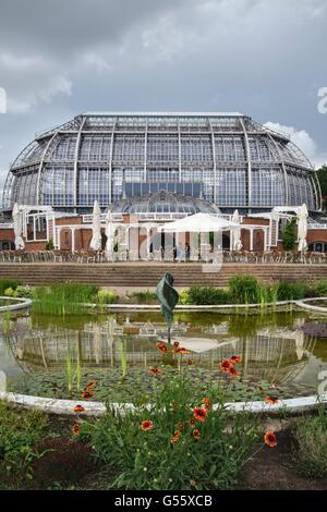 Berlin, Deutschland - der Botanische Garten Berlin-Dahlem. Die wichtigsten tropischen Gewächshaus Stockbild