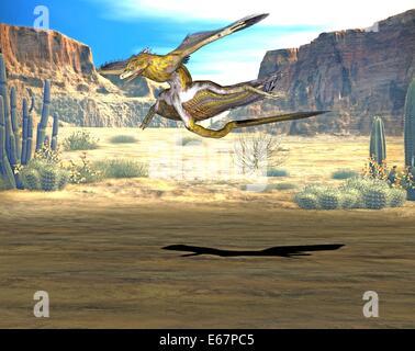 Dinosaurier Microraptor / Dinosaurier Microraptor Stockbild