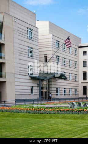 Amerikanische Botschaft am Pariser Platz, Berlin, Deutschland Stockbild
