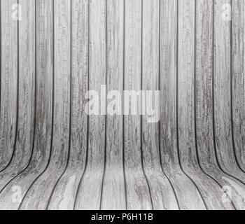 Moderne Hintergrund mit einem geschwungenen hölzernen Interieur Stockbild