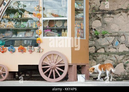 Souvenir Shop, Kandy, Sri Lanka, Asien Stockbild