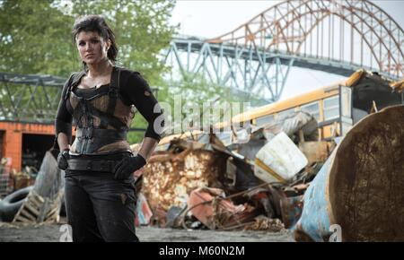 GINA CARANO DEADPOOL (2016) Stockbild