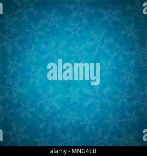 Blue abstract vector Weihnachten Hintergrund mit Schneeflocken im Retro-Stil Stockbild