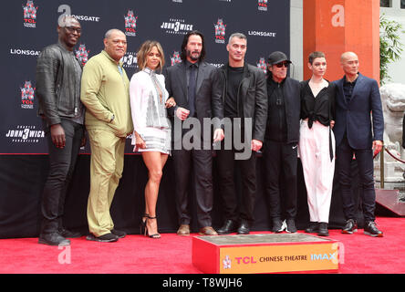 Mai 14, 2019 - Hollywood, CA, USA - 14. Mai 2019 - Hollywood, Kalifornien - Lance Reddick, Laurence Fishburne, Halle Berry, Keanu Reeves, Ian McShane, Asien Kate Dillon, Mark Dacascos. Die Keanu Reeves Hand und Fuß drucken Festakt an der TCL Chinese Theater. Photo Credit: Faye Sadou/AdMedia (Credit Bild: © Faye Sadou/AdMedia über ZUMA Draht) Stockbild