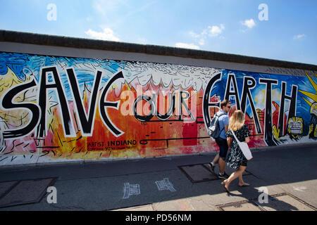 East Side Gallery, Berliner Mauer, Deutschland Stockbild