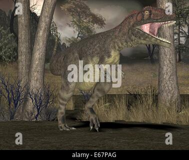 Dinosaurier Mapusaurus / Dinosaurier Mapusaurus Stockbild