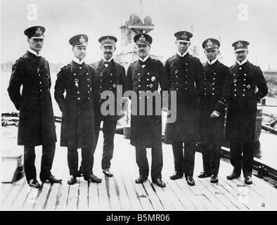 9 1916 5 31 A1 12 E Schlacht von Jütland Vizeadm Hipper eine o Weltkrieg 1914-18 1 Schlacht von Jütland Stockbild