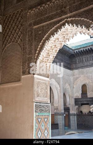 Medersa Bou Inania, Fes, Marokko Stockbild