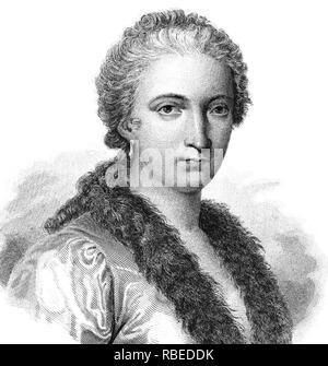 MARIA GAETANA AGNESI (1718-1799), italienischer Mathematiker und Philosoph Stockbild
