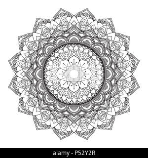 Dekoratives Mandala Design Stockbild