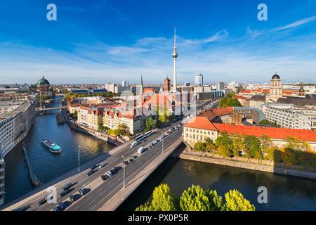Berlin Skyline Panorama, Deutschland Stockbild