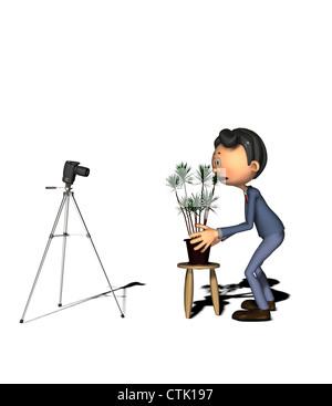Cartoon-Figur-Fotograf Stockbild