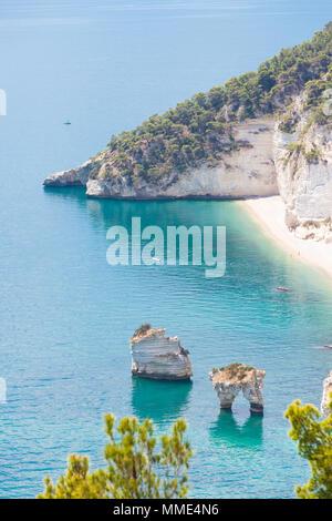 Grotta Smeralda, Apulien, Italien - Foto Shooting auf der verträumt-Grotte von Smeralda Stockbild