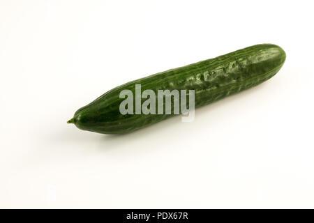 Frische, grüne Gurken aus dem Garten Stockbild