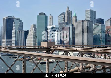 Gebäude Brooklynbrücke New York Stockbild