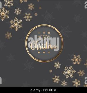 Dekorative Weihnachten Hintergrund mit Schneeflocken und Sternen-design Stockbild