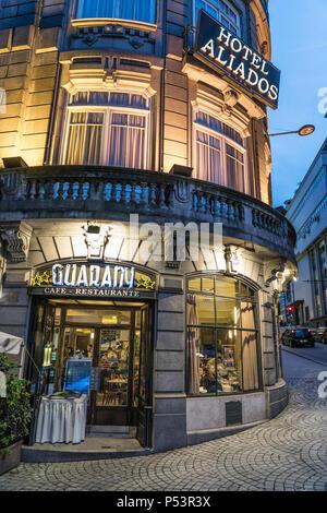 Hotel Avenida dos Aliados, Restaurant, Cafe Guarany, Porto, Portugal Stockbild