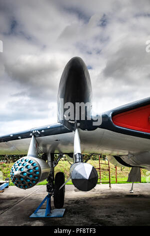 Jet fisher Flugzeug in Tangmere Aviation Museum in Tangmere, West Sussex, England Stockbild