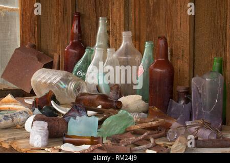 Watson's House Flaschen, Berlin-Icthyosaur State Park, Nevada. Stockbild