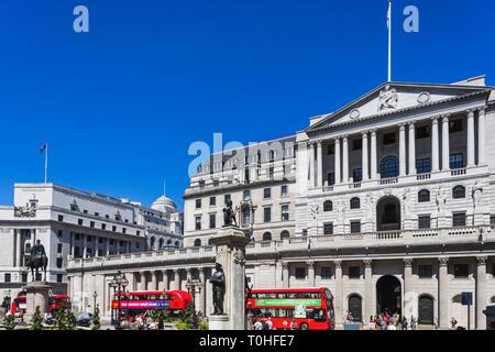 England, London, London, Bank von England Gebäude Stockbild