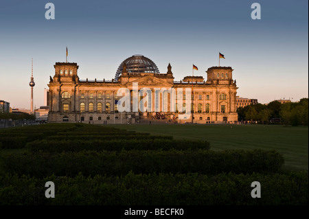Reichstagsgebäude, Berlin, Deutschland, Europa Stockbild