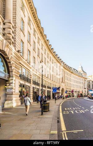 Regent Street, London, England, Vereinigtes Königreich, Europa Stockbild