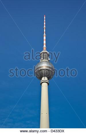 Der Fernsehturm Fernsehturm in Ost-Berlin. Stockbild